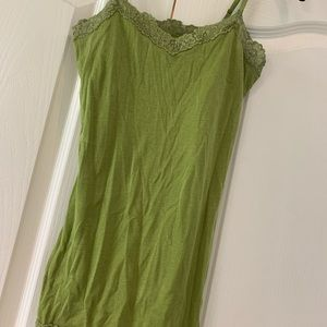 Aerie (American Eagle) sweetheart lace green cami